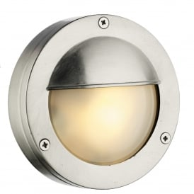 Bembridge Single LED Outdoor Wall Fitting Made From Solid Brass in Nickel Finish