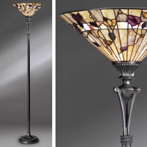Interiors 1900 bernwood single light uplighter floor lamp for Uplighter single floor lamp