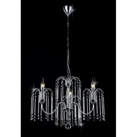 Bette 3 Light Crystal Chandelier with Polished Chrome Frame