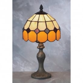 Bistro Tiffany Brown & Beige Table Lamp