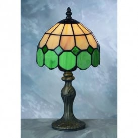 Bistro Tiffany Green Table Lamp