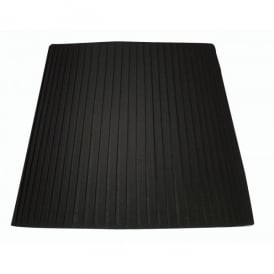 Black 8 Inch Hard Lined Pencil Pleat Shade