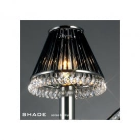 Black Chrome & Crystal Candle Light Shade