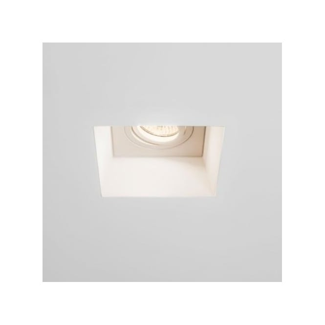 Astro Lighting Blanco Singe Light Plastered In Square Recessed Ceiling Fitting