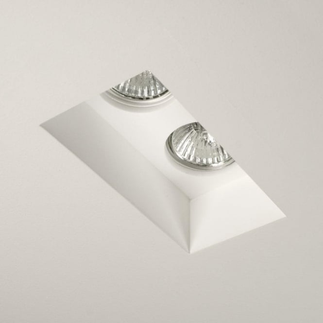 Astro Lighting Blanco Twin Halogen 2 Light Recessed Ceiling Fitting In Ceramic White Finish