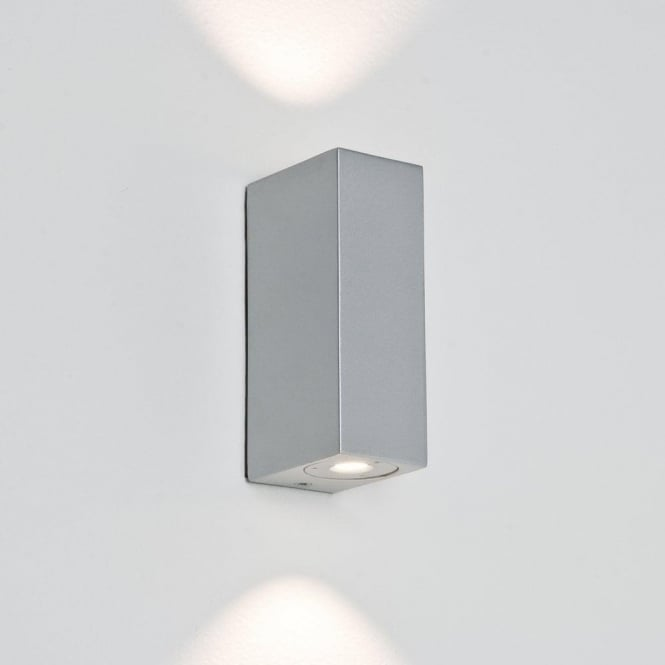 Astro Lighting Bloc 2 Light LED Bathroom Wall Fitting In Painted Silver Finish