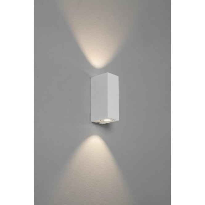 Astro Lighting Bloc 2 Light LED Bathroom Wall Fitting in Painted White Finish