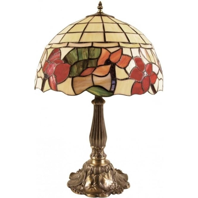 Oaks Lighting Border Tiffany Medium Sized Table Lamp