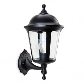 Boston Single Light Outdoor Wall Lantern In Black Finish
