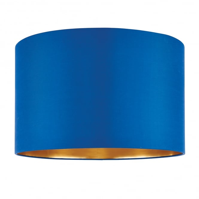 Endon Lighting Boutique 16 Inch Midnight Blue Silk Shade With A Brushed Gold Effect Inner