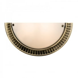 Brahm Single Light Wall Fitting in Antique Brass Finish With Frosted Glass Shade