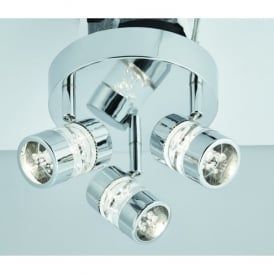 Bubbles 3 Light LED Ceiling Spotlight In Polished Chrome Finish With Acrylic Bubbles Effect