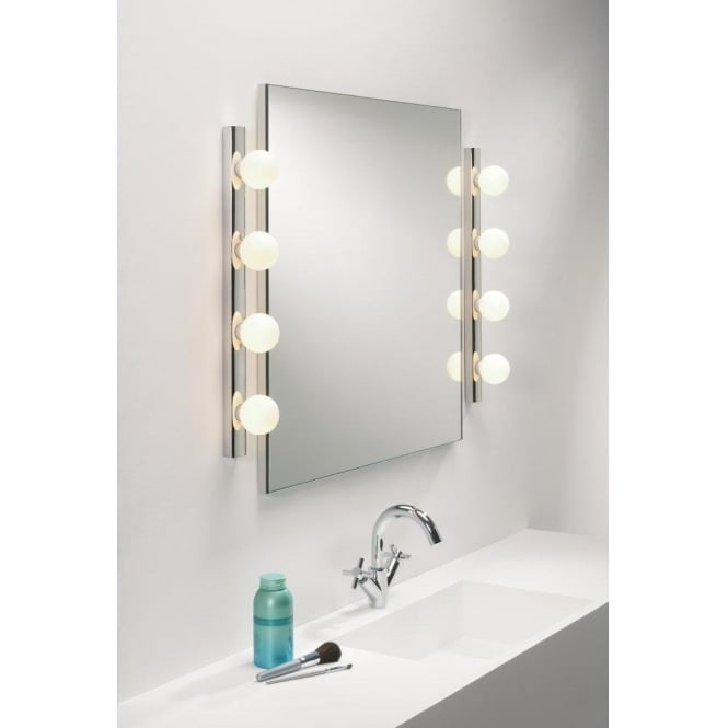 Astro Lighting Cabaret 4 Light Halogen Switched Bathroom Wall Fitting in Polished Chrome