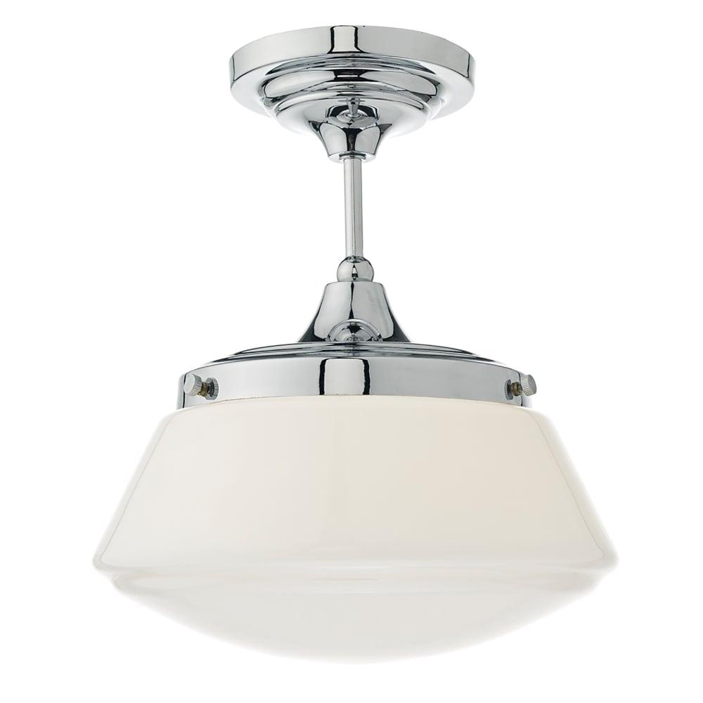 Dar Lighting Caden Single Light Bathroom Semi Flush ...