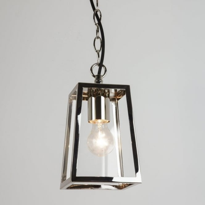 Astro Lighting Calvi Single Light Outdoor Porch Pendant In Polished Nickel Finish