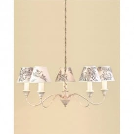 Caravalle Cream 5 Light Fitting With Or Without Shades