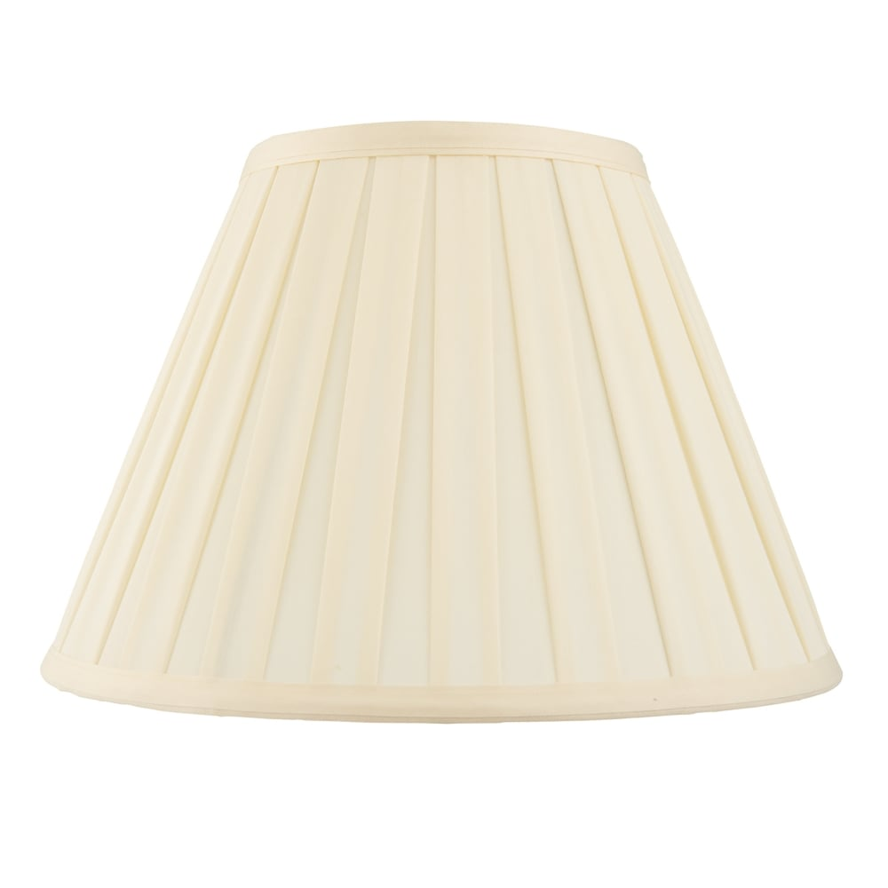 endon lighting carla 22 inch tapered drum shade in cream. Black Bedroom Furniture Sets. Home Design Ideas