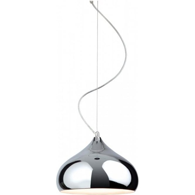 Firstlight Carla Single Light Ceiling Pendant in Polished Chrome Finish