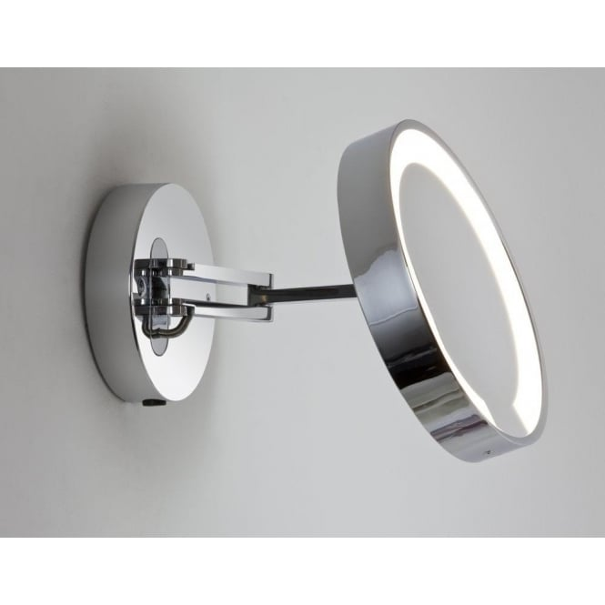 Astro Lighting Catena Single Light Low Energy Magnifying Bathroom Mirror In Polished Chrome Finish
