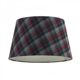 Catriona Ceiling Light 14 Inch Fabric Shade In Tartan Finish