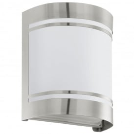 Cerno Single Light Outdoor Wall Fitting In Stainless Steel Finish