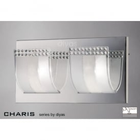 Charis 2 Light Switched Wall Fixture in Polished Chrome
