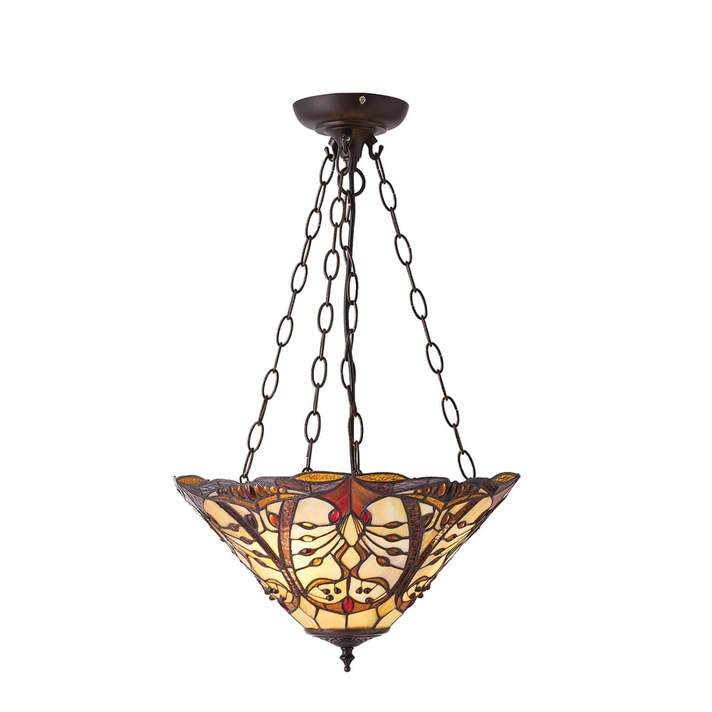 Interiors 1900 Chatelet 3 Light Ceiling Pendant In Bronze