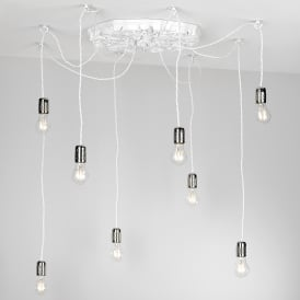 Chatsworth 8 Light Ceiling Fitting Arctic White Finish