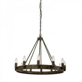 Chevalier 12 Light Ceiling Pendant In Aged Metal Painted Finish