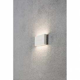 Chieri 2 Light High Powered 6w LED Wall Fitting in Painted White Finish