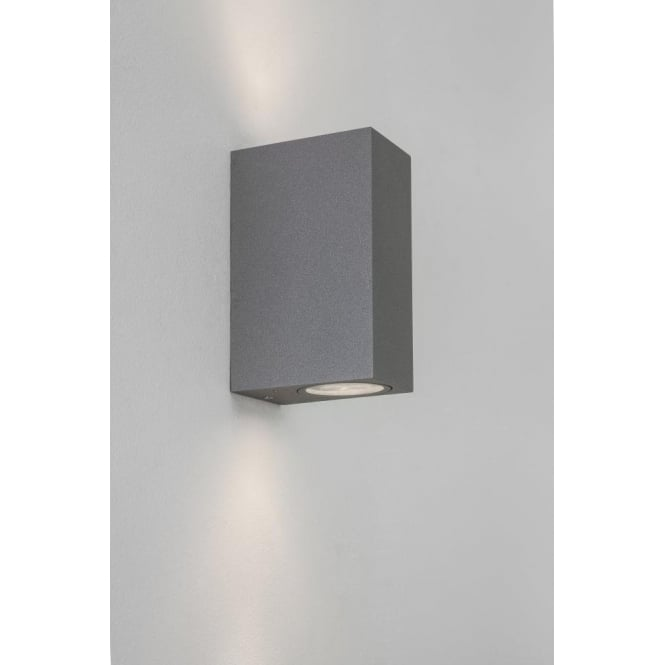 Astro Lighting Chios 150 2 Light LED Wall Fitting in Painted Silver Finish