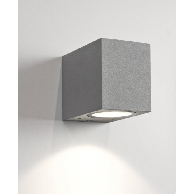 Astro Lighting Chios 80 Single Light LED Exterior Wall Fitting in Painted Silver Finish