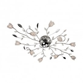 Cindy 10 Light Halogen Ceiling Fitting in a Polished Chrome Finish