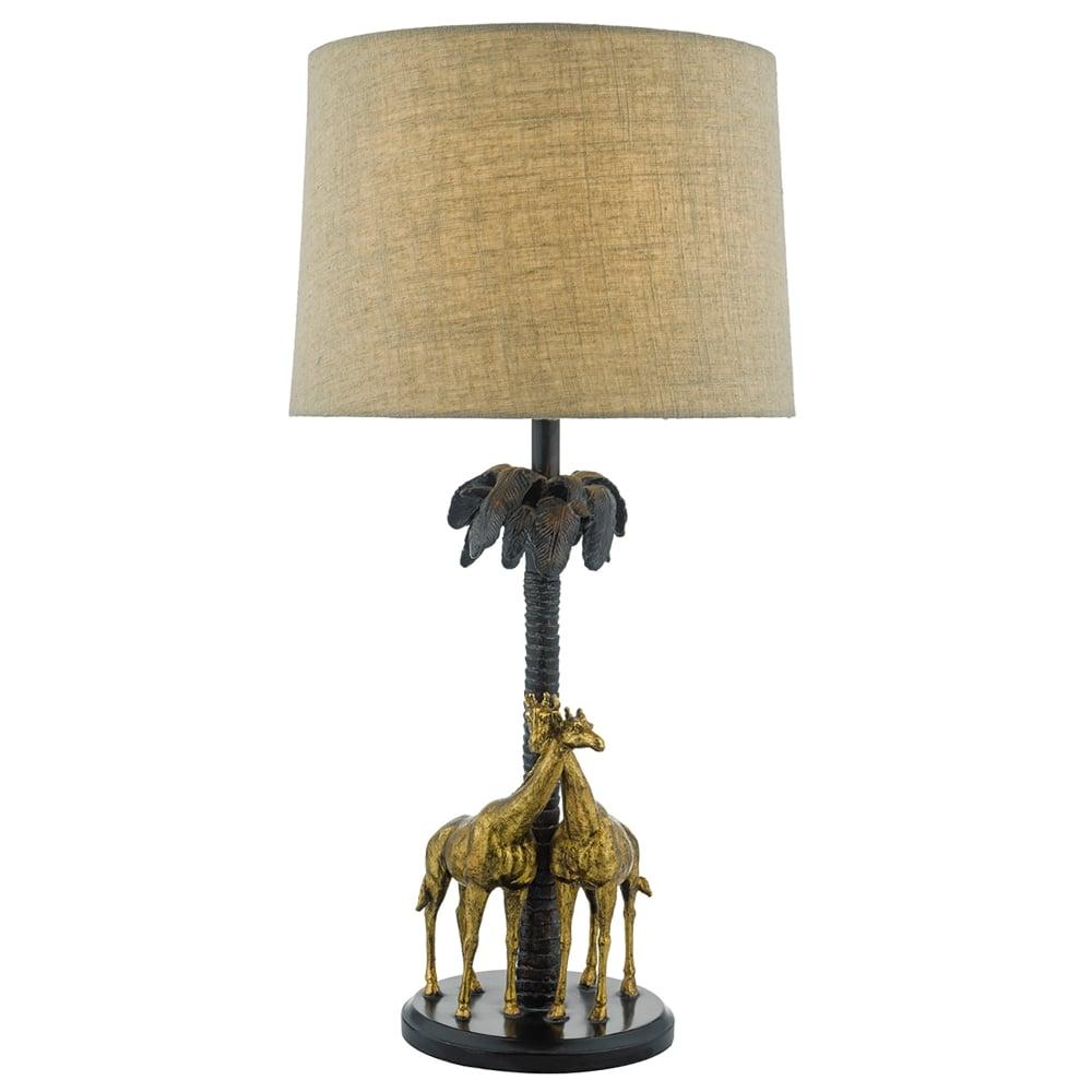 dar lighting citadel single light giraffe table lamp in. Black Bedroom Furniture Sets. Home Design Ideas
