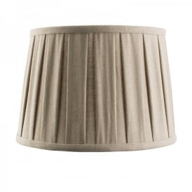 Cleo 10 Inch Taupe Faux Linen Shade