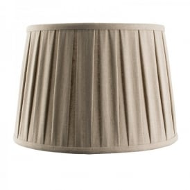 Cleo 12 Inch Taupe Faux Linen Shade