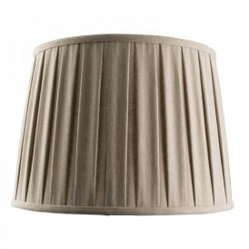 Cleo 14 Inch Taupe Faux Linen Shade