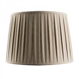 Cleo 16 Inch Taupe Faux Linen Shade