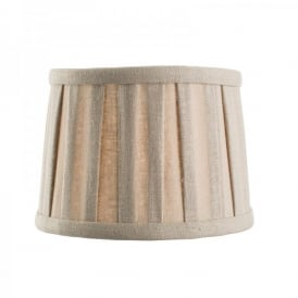 Cleo 6 Inch Taupe Faux Linen Candle Clip Shade