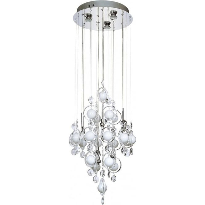 Dar Lighting Cloud 12 Light Ceiling Pendant in Polished Chrome Finish