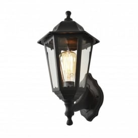 Coast Collection Bianca Single Light Outdoor Wall Light in Black
