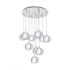 Conessa 10 Light LED Ceiling Pendant In Polished Chrome Finish