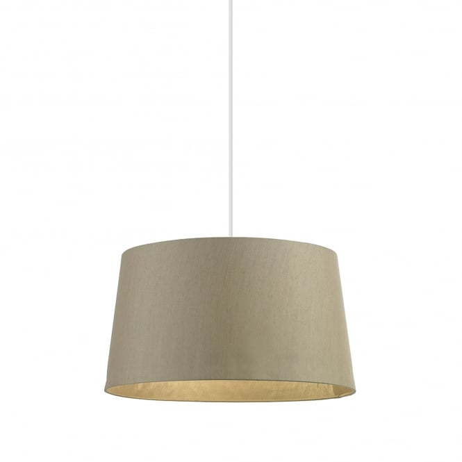 Endon Lighting Cordelia 16 Inch Gold Faux Silk Shade