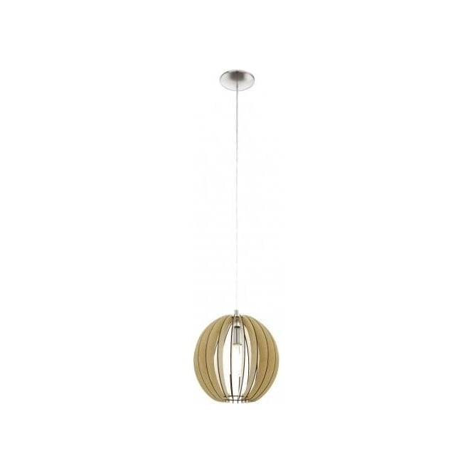 Wood Finish Ceiling Lights : Eglo lighting cossano medium single light ceiling pendant