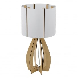 Cossano Single Light Table Lamp With Maple Wood Base