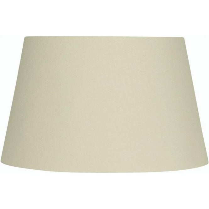 Oaks shades cream large 20 inch tapered cotton drum shade for 20 inch window blinds