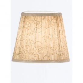 Cream Pleated Candle Shade with Hidden Floral Design
