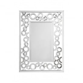 Credo Rectangular Wall Mirror with Ring Shaped Decorations