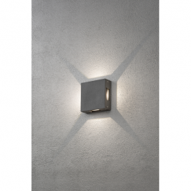 Cremona 4 Light High Powered LED Wall Fitting in Painted Grey Aluminium Finish