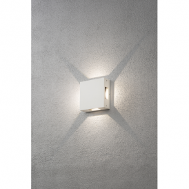 Cremona 4 Light High Powered LED Wall Fitting in Painted White Aluminium Finish